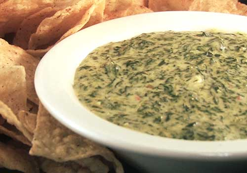 Spinach Queso Dip | Appetizers Menu @ Riverfront Seafood Company in Kingsport, TN